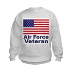 Air Force Veteran (Front) Kids Sweatshirt