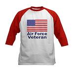 Air Force Veteran (Front) Kids Baseball Jersey