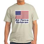 Air Force Veteran (Front) Ash Grey T-Shirt