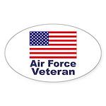 Air Force Veteran Oval Sticker
