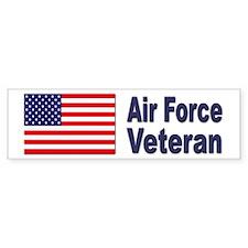 Air Force Veteran Bumper Car Sticker