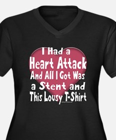 Cool Stent Women's Plus Size V-Neck Dark T-Shirt
