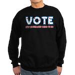 Patriotic Vote Sweatshirt (dark)