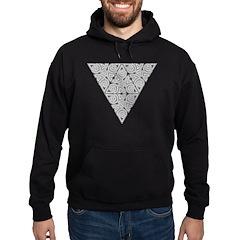 Blackwork Triangle Knot Hoodie (dark)