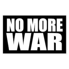 No More War Bumper Decal