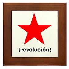 la estrella roja Framed Tile
