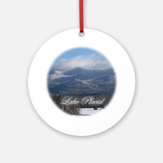 A Lake Placid Christmas Ornament (Round)