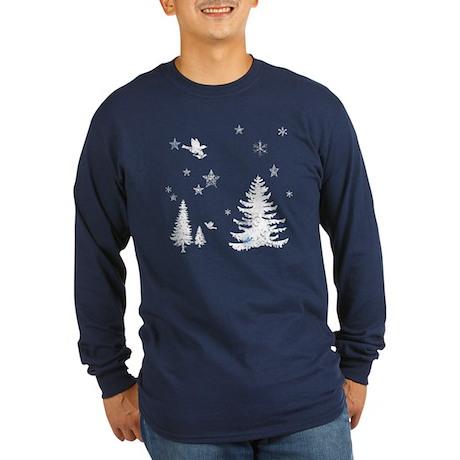 Winter Wonderland Long Sleeve Dark T-Shirt