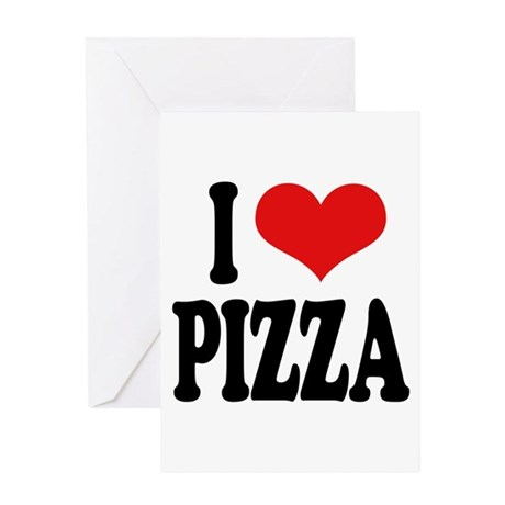 I Love Pizza (word) Greeting Card