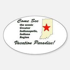 Come See Indianapolis Oval Decal