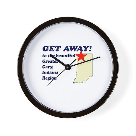 Get Away to Gary, Indiana Wall Clock