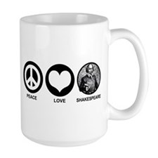 Peace Love Shakespeare Mug