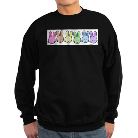 Pastel Rainbow Bunnies Sweatshirt (dark)