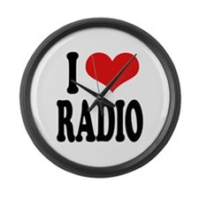 I Love Radio Large Wall Clock