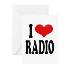 I Love Radio Greeting Cards (Pk of 20)