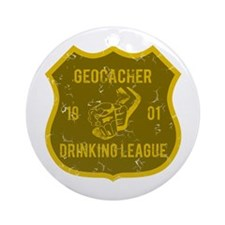 Geocacher Drinking League Ornament (Round)