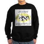 LIFE IS HARD Sweatshirt (dark)