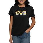 Peace Love Fries Women's Dark T-Shirt
