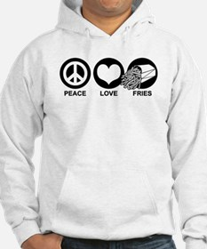 Peace Love Fries Hoodie Sweatshirt