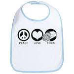 Peace Love Fries Bib