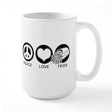 Peace Love Fries Mug
