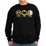 Peace Love Fries Sweatshirt (dark)