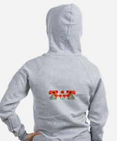 Red Poppies Zip Hoodie