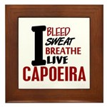 Bleed Sweat Breathe Capoeira Framed Tile