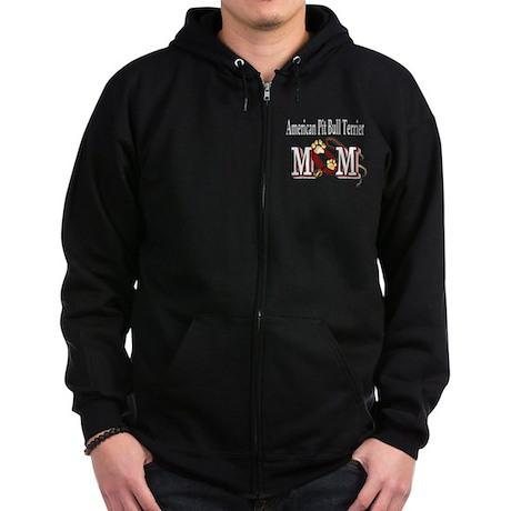 American Pitbull Terrier Zip Hoodie (dark)