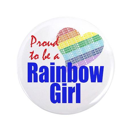 """Rainbow Girls 3.5"""" Button"""
