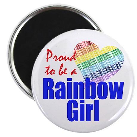 Rainbow Girls Magnet