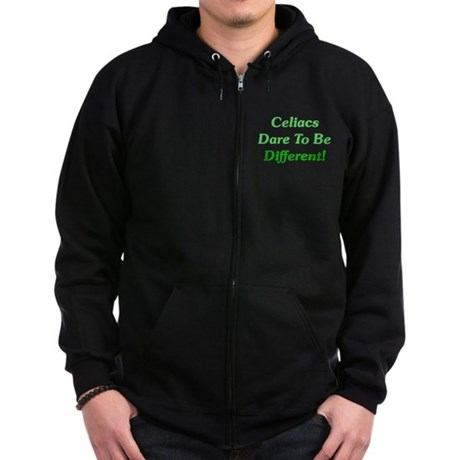 Celiacs Dare To Differ Zip Hoodie (dark)
