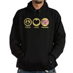 Peace Love Piggies Hoodie (dark)