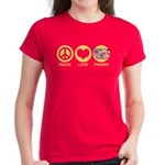Peace Love Piggies Women's Dark T-Shirt