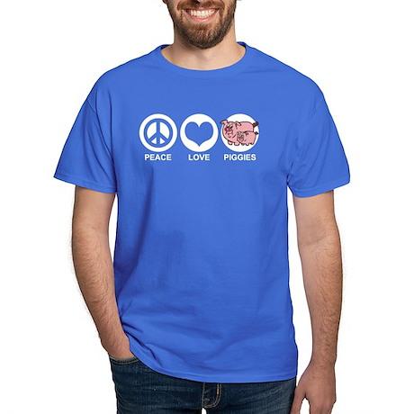 Peace Love Piggies Dark T-Shirt