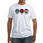 Peace Love Piggies Fitted T-Shirt