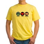 Peace Love Piggies Yellow T-Shirt