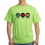 Peace Love Piggies Green T-Shirt