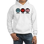 Peace Love Piggies Hooded Sweatshirt