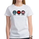 Peace Love Piggies Women's T-Shirt