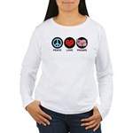 Peace Love Piggies Women's Long Sleeve T-Shirt