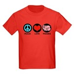 Peace Love Piggies Kids Dark T-Shirt