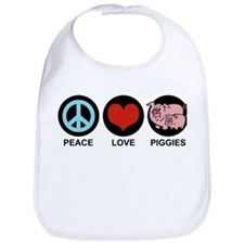 Peace Love Piggies Bib