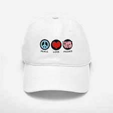 Peace Love Piggies Baseball Baseball Cap