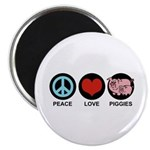 Peace Love Piggies Magnet