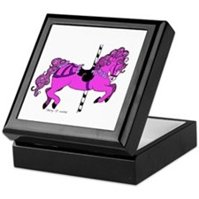 Purple Carousel Horse Keepsake Box
