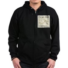 Directionally Challenged Zipped Hoodie