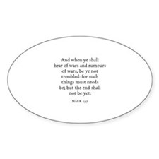 MARK 13:7 Oval Decal