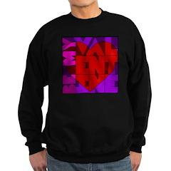 Be My Valentine Sweatshirt (dark)
