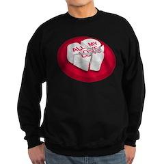All My Love Broken Heart Sweatshirt (dark)